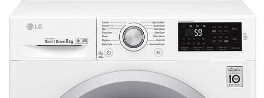 LG Q4J5TN4W - Frontmatet vaskemaskin med stor kapasitet